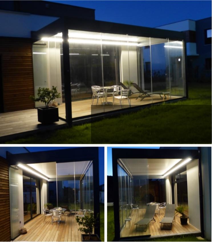 eclairage veranda pergola